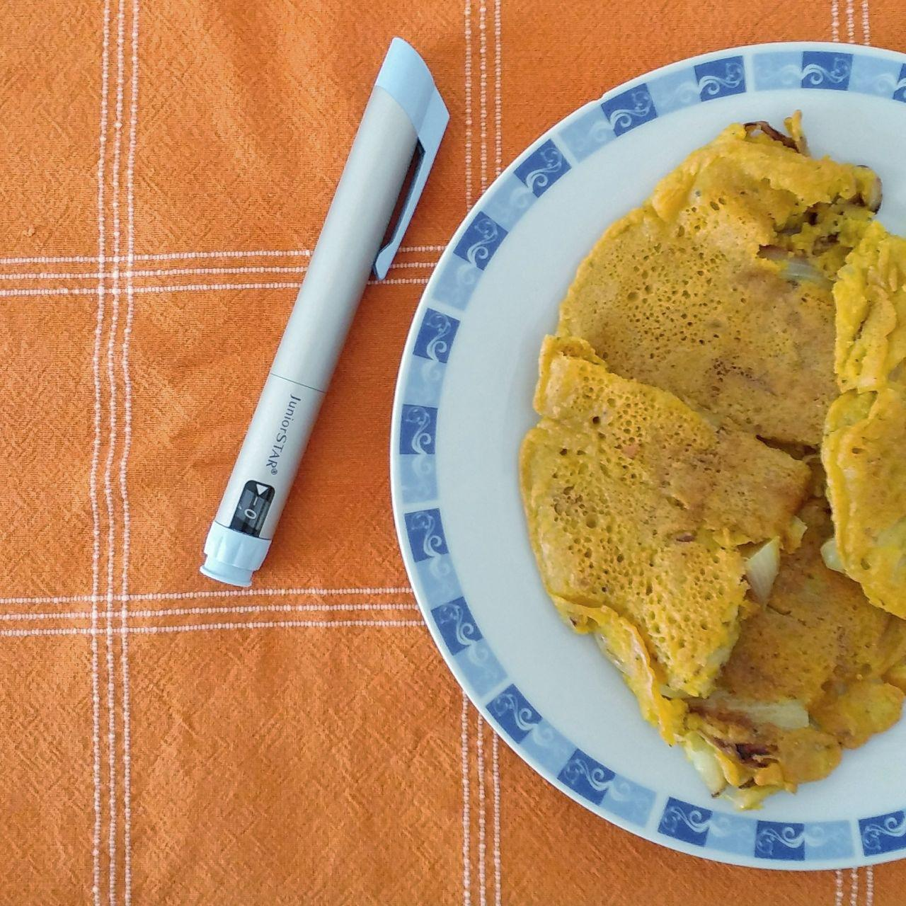 torta di ceci, farinata o frittata di farina di ceci con cipolle