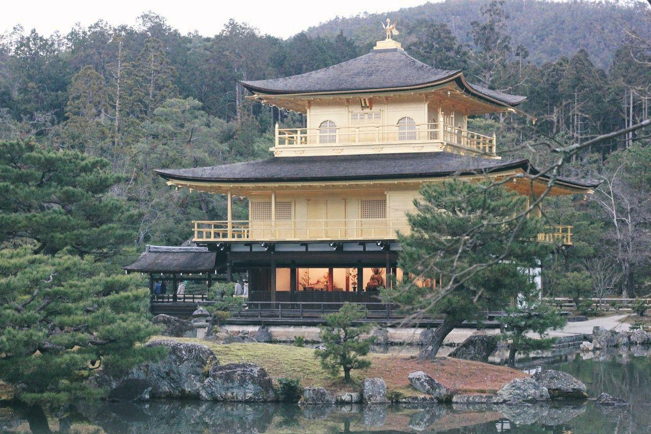 Kinkaku-ji, padiglione d'oro a Kyoto